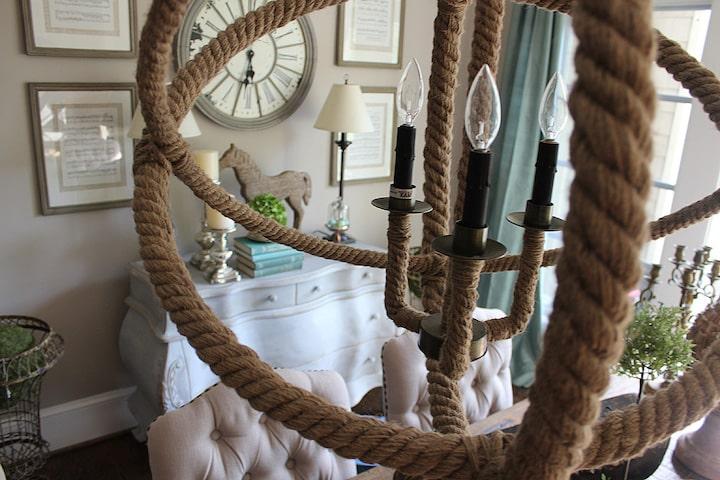 Канаты и верёвки в интерьере