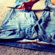 Если даже заплатки не спасут, старые джинсы ещё послужат
