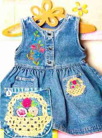 Аппликации спицами для детской одежды