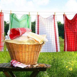 Как отстирать кухонные полотенца от жира и запаха в домашних условиях