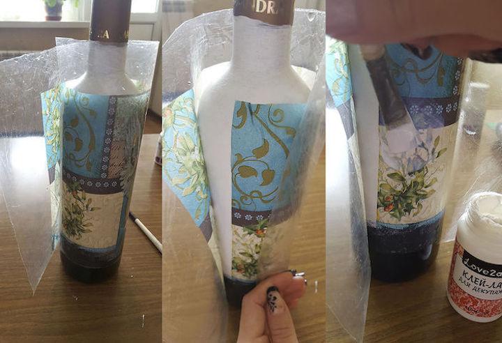 Декор бутылки шампанского на свадьбу