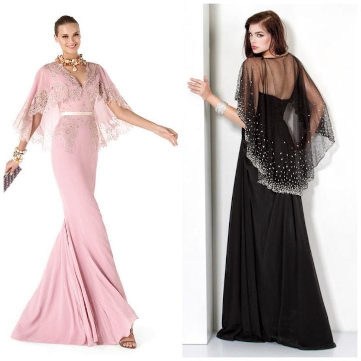 Что надеть поверх вечернего платья