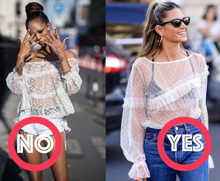 Как носить прозрачную одежду
