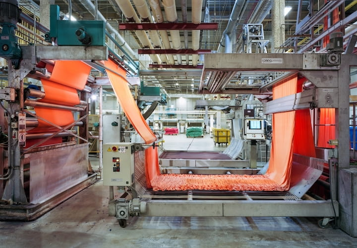 Производство текстиля 2020
