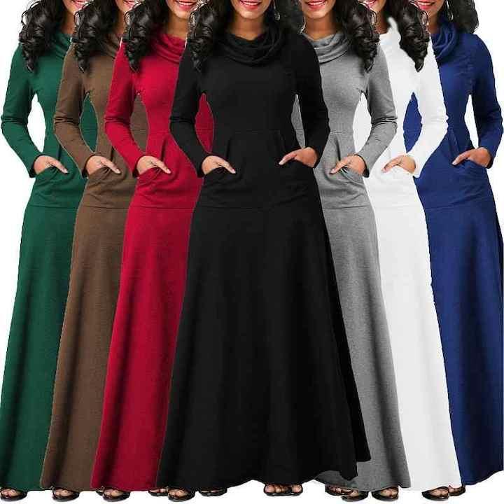 Теплое платье для женщины 40+