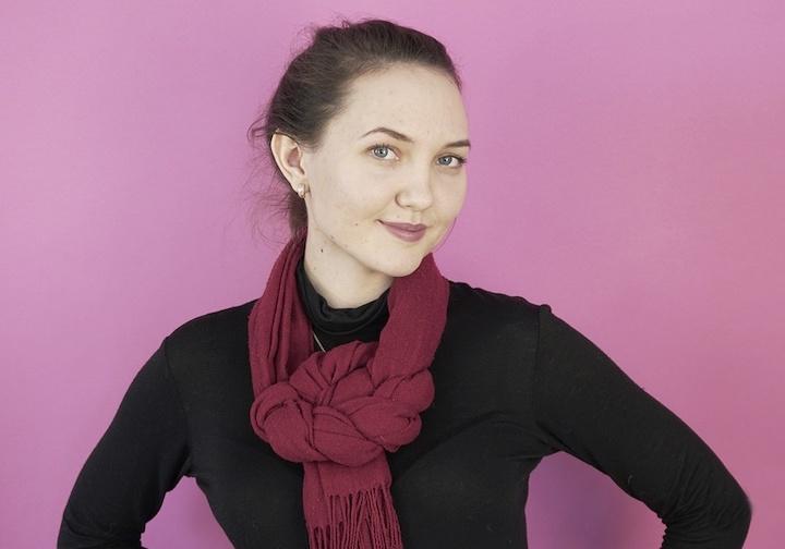 Красиво вяжем шарф